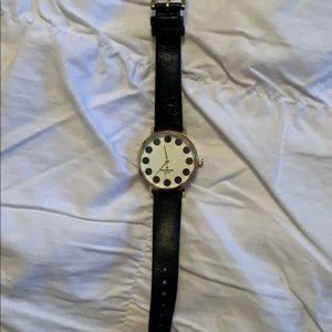 Black polka dot Kate spade watch